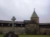 Псковский кремль. Крест на месте взорванного Благо